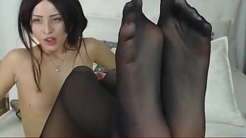 in pussy7 heel Smoking ebony tranny jerking off