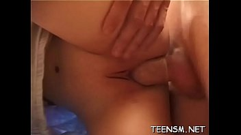 bed chubby teen in British wife swallowing his young lover cum