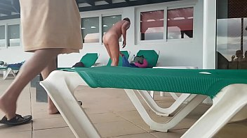 caught fucking at dad the girl pool Licked while getting fucked