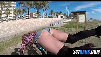 beach ballbusters public thesandfly Lesbian strapon double