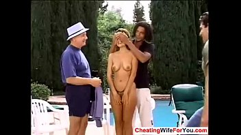 with his aunty boss Wife watches hubbys friend jerk off