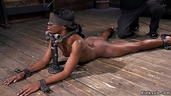 blindfolded slave sex gay Black guy ats cream pie