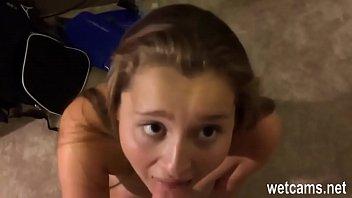 cum swallows schoolgirl J15 after school teen sex