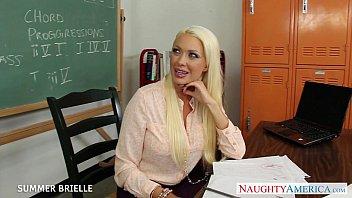 teacher drilled blond the on table Czech massage hd cam