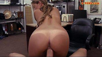 cute blond sister Big juggs teen kitty jane cum on booty