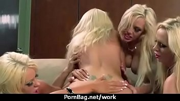 office real secretary Emmanuella french black gang bang