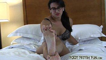 worship feet nerd Julia ann solo joi