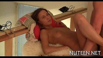 teen in chubby bed Frencg gang bang