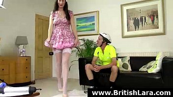 prostitute in gets stockings pissed Breasty darling receive her pussy spooned by stud