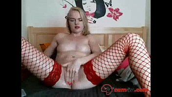in red nun stockings Openup pussy with black monster