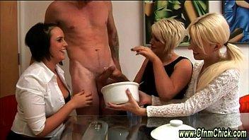 shaft amatuers milking 2 handed vol handjob cumshots 16 Wife sucks new cock