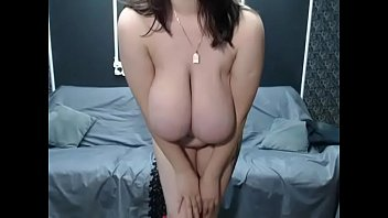 tits big brunette busty her showing Indian aunty porn videos most recent