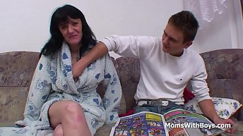 son mother rapping his Older mature cleaning lady gang bang by young guys in sauna