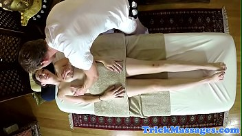 down on woman amateur filmed going My wife getting massage on tour part c